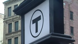 MBTA sign