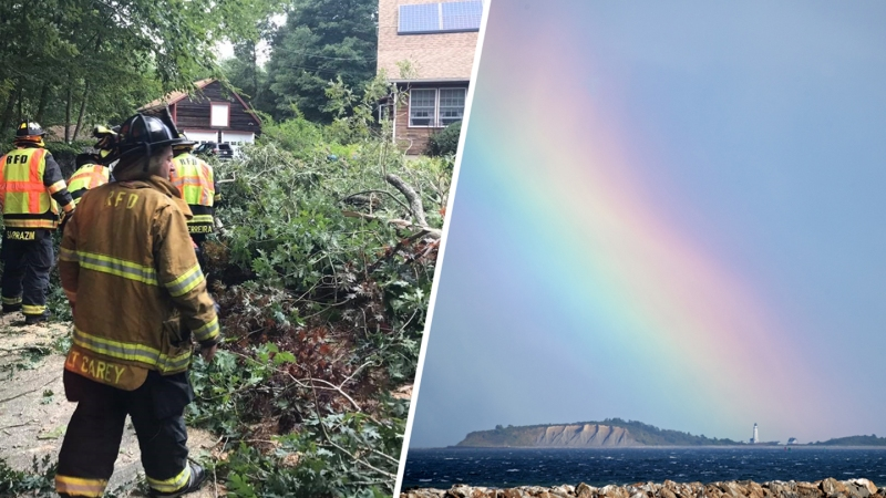 PHOTOS: Tropical Storm Isaias Downs Trees, Leaves Rainbow in Its Wake
