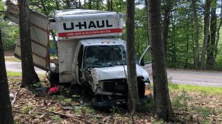 Crashed U-Haul in New Hampshire