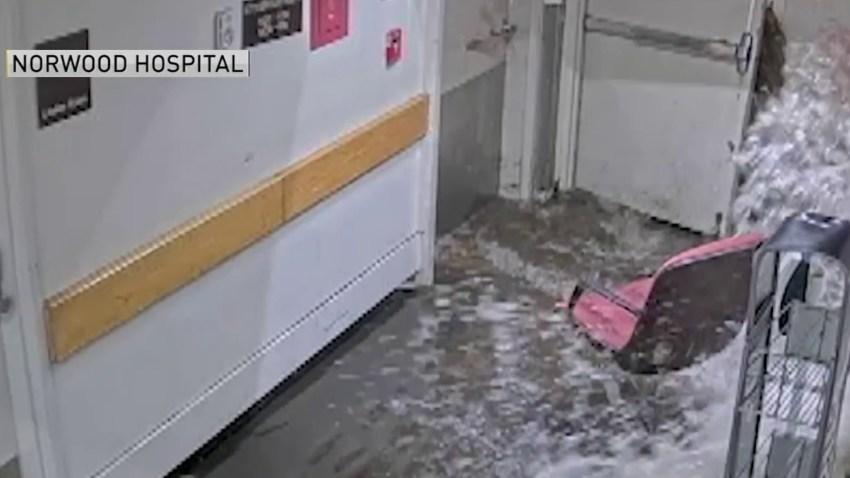 Flooding at Norwood Hospital