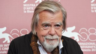 """French actor Michael Lonsdale poses during the photocall of """"Il villagio di cartone"""" at the 68th Venice Film Festival on September 6, 2011at Venice Lido. """"Il villagio di cartone"""" is presented out of competition."""