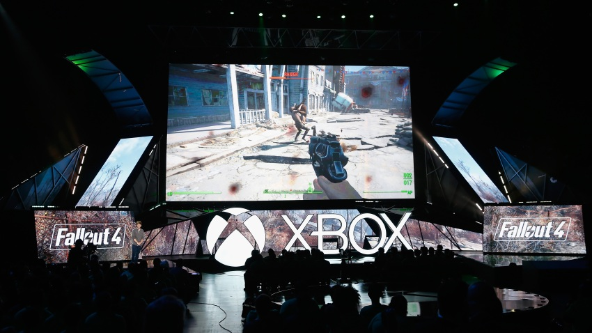 """Todd Howard introduces """"Fallout 4"""" during the Microsoft Xbox E3 press conference"""