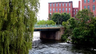 A file photo showing the Presumpscot River in Westbrook, Maine, on July 3, 2013.