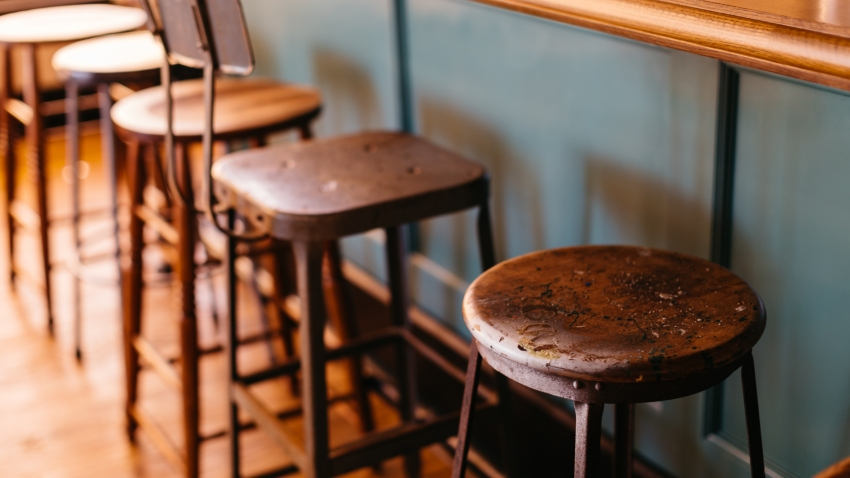A stock photo showing bar stools.