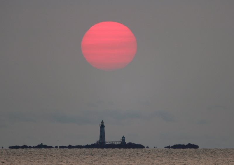 PHOTOS: Wildfire Smoke Gave Boston Otherworldly Sunrises