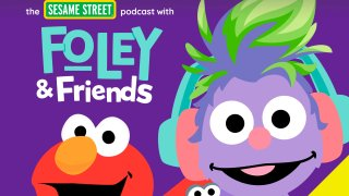 """This image released by Audible shows cover art for """"The Sesame Street Podcast with Foley & Friends."""""""