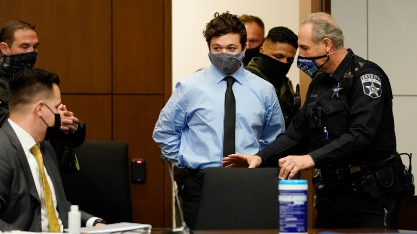 Kyle Rittenhouse appears for an extradition hearing in Lake County court Friday, Oct. 30, 2020, in Waukegan, Ill. Rittenhouse is accused of killing two protesters days after Jacob Blake was shot by police in Kenosha, Wis.