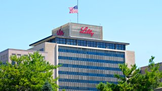 The headquarters building of Eli Lilly & Co. stands in Indianapolis, Indiana, U.S., on Wednesday, June 30, 2010.