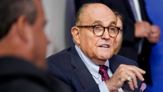WASHINGTON, DC - SEPTEMBER 27: Former New York Mayor Rudy Giuliani speaks during a news conference held by U.S. President Donald Trump in the Briefing Room of the White House on September 27, 2020 in Washington, DC. Trump is preparing for the first presidential debate with former Vice President and Democratic Nominee Joe Biden on September 29th in Cleveland, Ohio.
