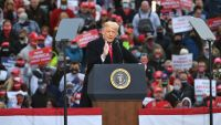 President Trump Holds Rally in NH 9 Days Before Election