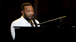 In this Oct. 14, 2020, file photo, John Legend performs onstage at the 2020 Billboard Music Awards, broadcast at the Dolby Theatre in Los Angeles, California.