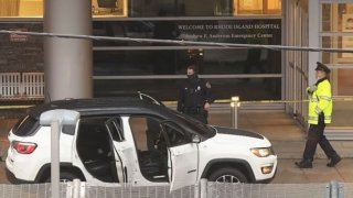 A bullet-ridden vehicle brought three shooting victims to Rhode Island Hospital.