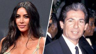 (Left) Kim Kardashian, (Right) Robert Kardashian Sr.
