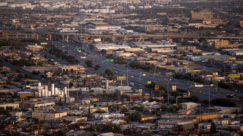Vehicles travel along Interstate 10 highway in El Paso, Texas, U.S., on Monday, Nov. 9, 2020. In Texas's worst hotspot, El Paso, the outbreak is spreading faster than in Texas biggest city, Houston, which has almost six times the population. El Paso County recorded 705 new cases in the past 24 hours, dwarfing the Houston region's 451.