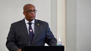 "Baltimore Mayor Bernard C. ""Jack"" Young speaks during a news conference on June 5, 2020."