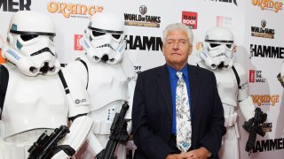 In this June 16, 2014, file photo, Dave Prowse aka Darth Vader attends the Metal Hammer Golden Gods awards at Indigo2 at O2 Arena in London, England.