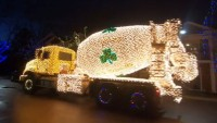 As 'Vermont Lights the Way,' Decorated Concrete Mixers Stir Up Holiday Cheer