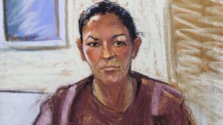 Courtroom sketch of Ghislaine Maxwell