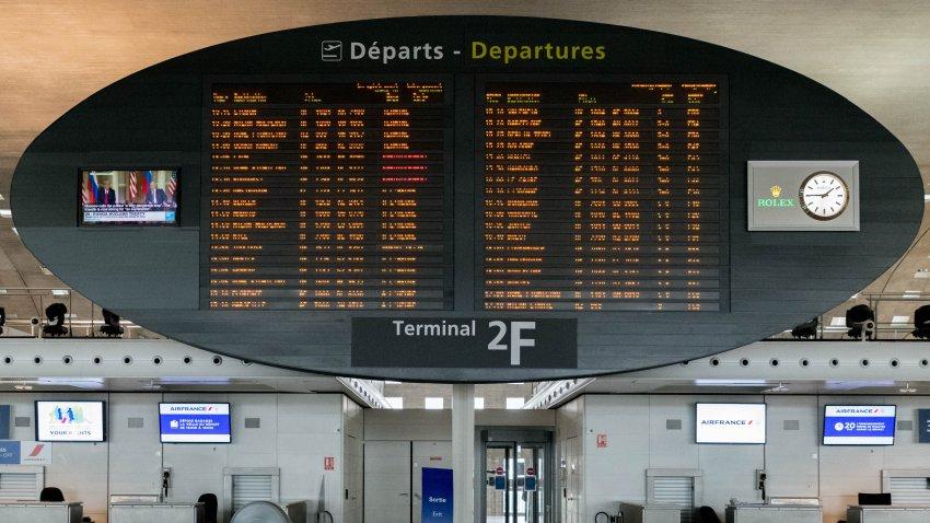 The Charles de Gaulle Airport In Paris