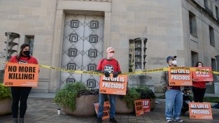 Demonstrators Protest Federal Executions