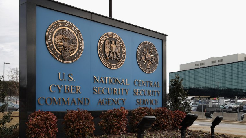 The sign outside the National Security Agency (NSA) campus