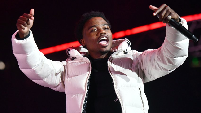 In this June 21, 2019, file photo, rapper Roddy Ricch performs onstage during the 7th Annual BET Experience at Staples Center in Los Angeles, California.