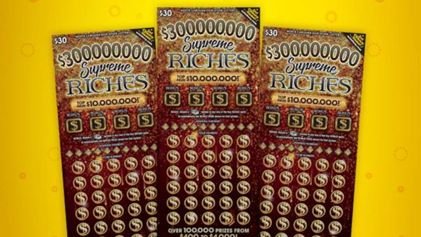 The Supreme Riches second-chance scratch off lottery cards