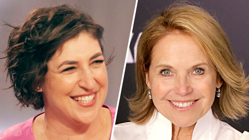 Mayim Bialik (left) and Katie Couric (right).