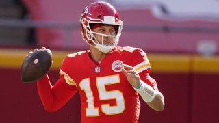 Kansas City Chiefs quarterback Patrick Mahomes throws a pass during the first half of an NFL football game against the Atlanta Falcons, Sunday, Dec. 27, 2020, in Kansas City.
