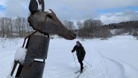 To Visit This Vermont Art Gallery, Pack Cross-Country Skis or Snowshoes