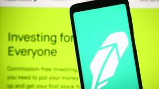 Robinhood app logo on a smartphone