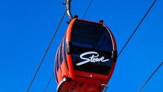 A gondola at Stowe Mountain ski resort