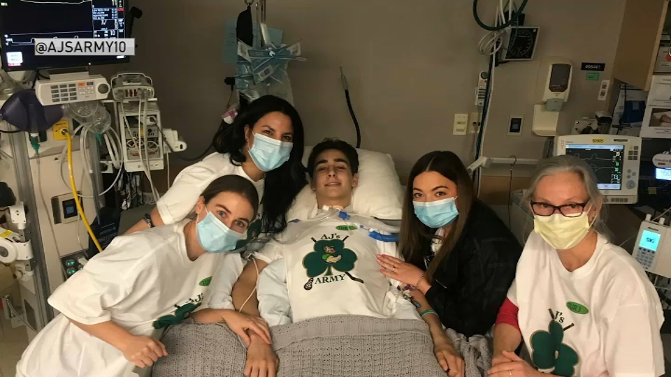 WATCH LIVE: Injured High School Hockey Player Leaves MGH for Next Recovery Phase