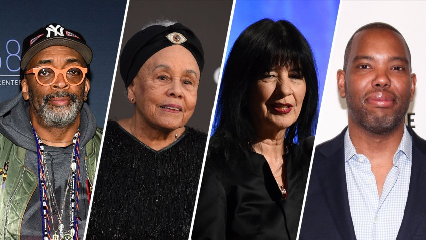From left: director Spike Lee, artist Betye Saar, poet laureate joy Harjo and author Ta-Nehisi Coates. The four will be among a handful of this year's 33 members of the American Academy of Arts and Letters.