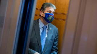 Sen. Joe Manchin, D-W. Va., is seen during a Senate vote in the Capitol on Thursday, March 25, 2021.