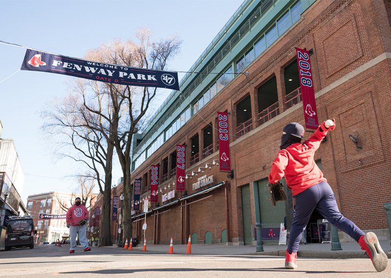 IMAGES: Fans Head to Fenway for Red Sox Home Opener