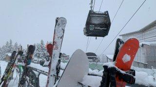 Snow at Killington Resort on Friday, April 16, 2021