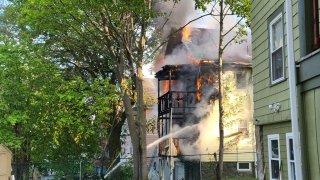 2-alarm fire mattapan