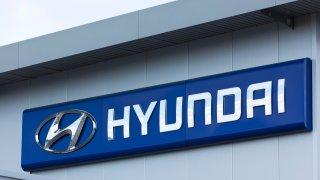 Hyundai sign on wall