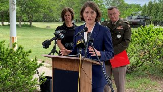 Vermont Commerce Secretary Lindsay Kurrle, Lt. Gov. Molly Gray and Gen. Gregory Knight.