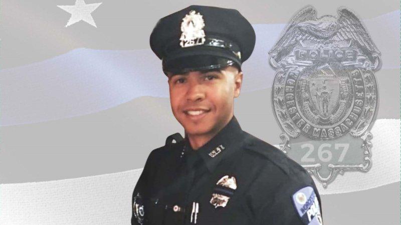 Fallen Worcester Police Officer Manny Familia's Funeral Program and Prayer Card