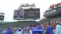 Boston English High School Students Graduate at Fenway