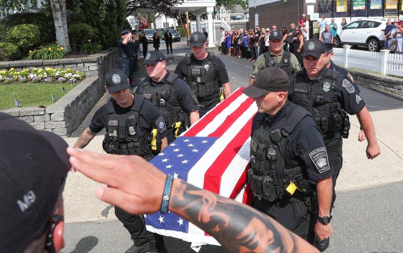 PHOTOS: Slain Braintree K-9 Honored at Funeral