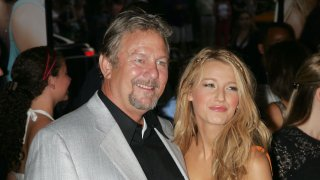 """Actors Ernie Lively and Blake Lively attend the premiere of """"The Sisterhood of the Traveling Pants 2"""""""