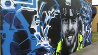 Mural Honoring Officer Who Died Trying to Save Teen Adorns Worcester Wall