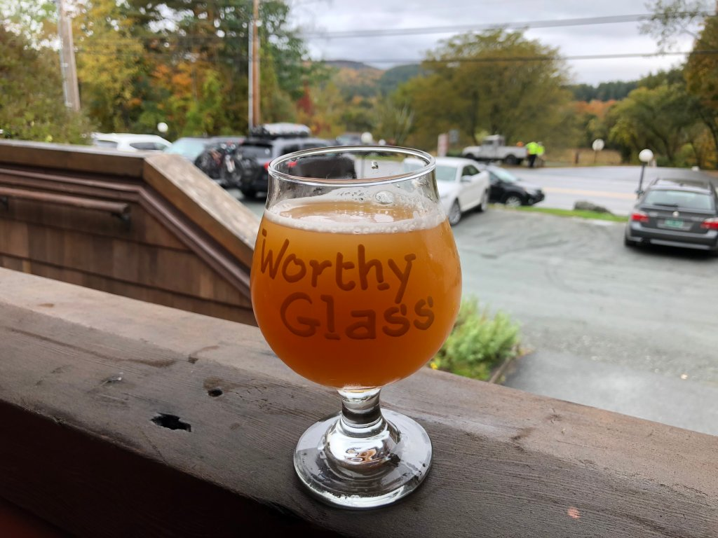 A drink at Worthy Kitchen in Woodstock, Vermont