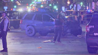 An SUV drove into a crowd of protesters in Minneapolis, Minnesota, on Sunday, June 14, 2021.