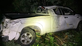 Five people were injured in a crash in Lyndon, Vermont, on Sunday night when one of two cars involved hit a moose.