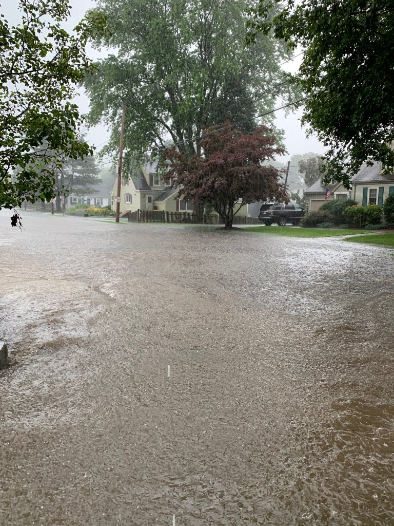 Flooding on Garfield Ave in Norwood