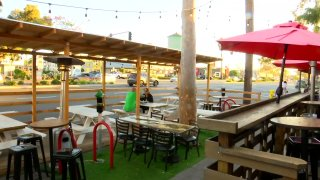 A North Park restaurant's outdoor dining space.